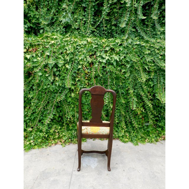 Early 1900s Botanical Cactus Vanity Chair For Sale - Image 4 of 10