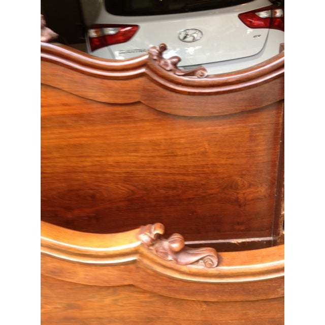 Antique Rosewood Full Bed - Image 6 of 11
