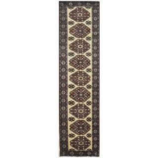 "Vintage Handmade Persian Runner Rug - 3'6"" x 13'"