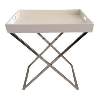 Modern Tray and Chrome Bar Table For Sale