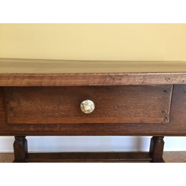 Antique Hand Hewn Mahogany Table For Sale - Image 4 of 12