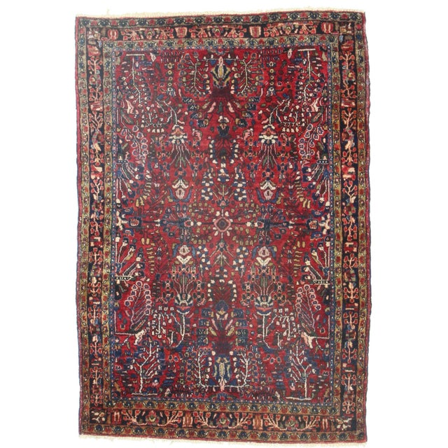 RugsinDallas Persian Sarouk Wool Rug - 3′2″ × 4′4″ - Image 1 of 2