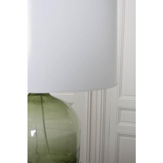 Blown Glass French 19th Century Green Glass Demijohn Lamp For Sale - Image 7 of 9