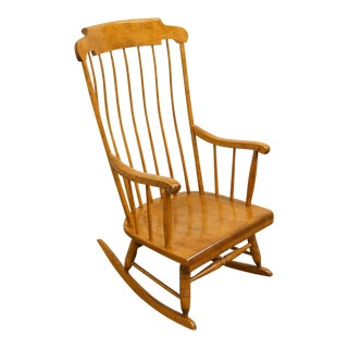 Late 20th Century Vintage Nichols & Stone Maple Windsor Rocking Chair - For Sale