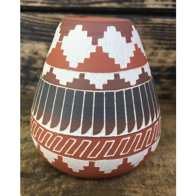Navajo Indian Pottery Vase - Image 3 of 6