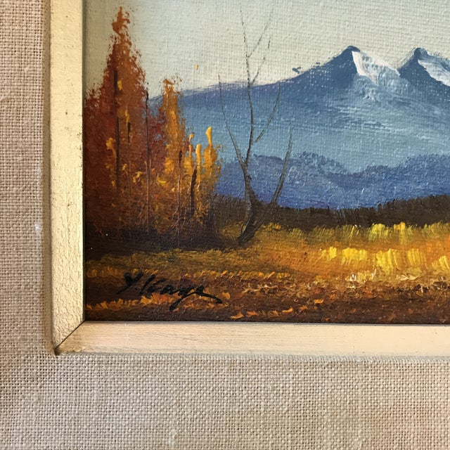 American Classical Vintage Landscape Mountain Painting Signed For Sale - Image 3 of 8