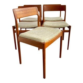 1970s Vintage Danish Modern Chairs in Style of Jl Moller - Set of 5 For Sale