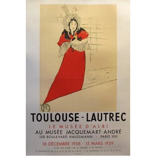 1958 Original French Toulouse-Lautrec Exhibition Poster, Musee d'Albi - Toulouse-Lautrec