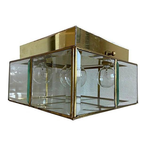 Mid-Century Modern Lightolier Jewel Box Flush Light For Sale - Image 3 of 12