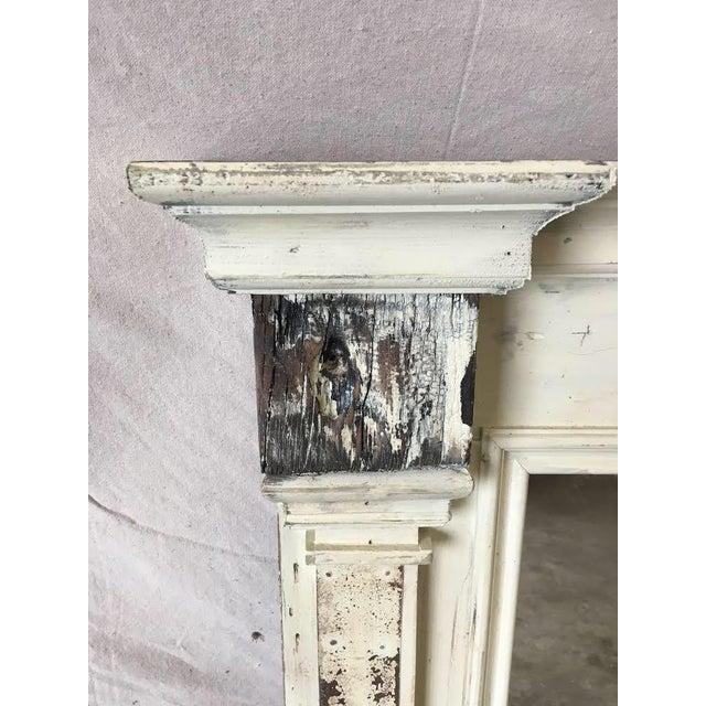 Rustic Scandinavian Painted Reclaimed Wood Mirror For Sale - Image 3 of 6