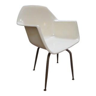 Vintage Mid Century Modern Fiberglass Armchair For Sale