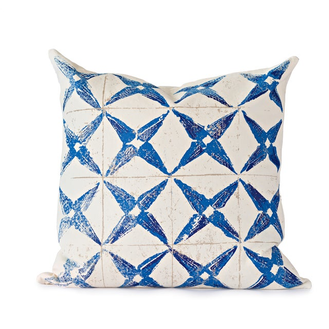 Blue Star Throw Pillow For Sale