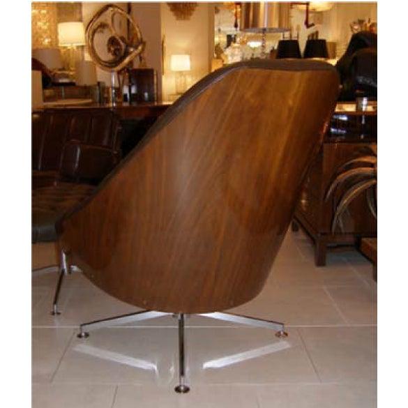 Milo Baughman Chair and Ottoman Set - Image 5 of 5
