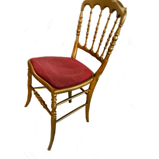 Antique French Spindle Back Chiavari Chairs - S/4 - Image 3 of 6