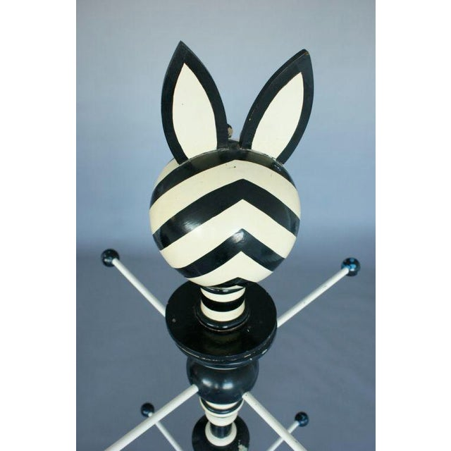 1960's Zebra-Stripe Coat Stand For Sale - Image 10 of 10