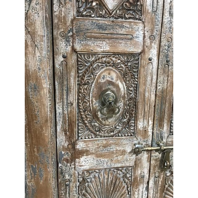 Antique Indian Teak Door and Frame From a Rajasthan Haveli For Sale - Image 4 of 6