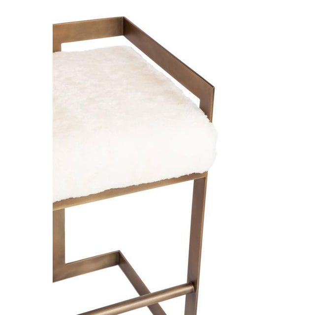 Modern Customizable Murray Stool For Sale - Image 3 of 5