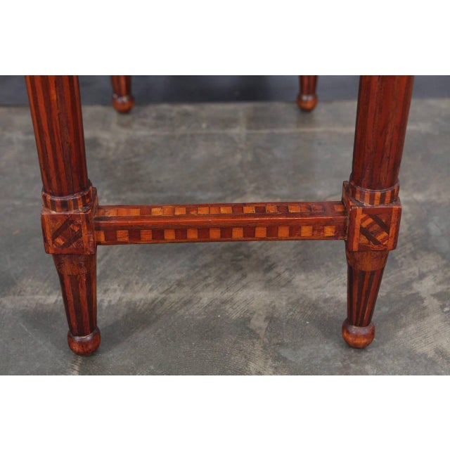 Late 19th Century Folk Art Parquetry Side Table For Sale - Image 5 of 8