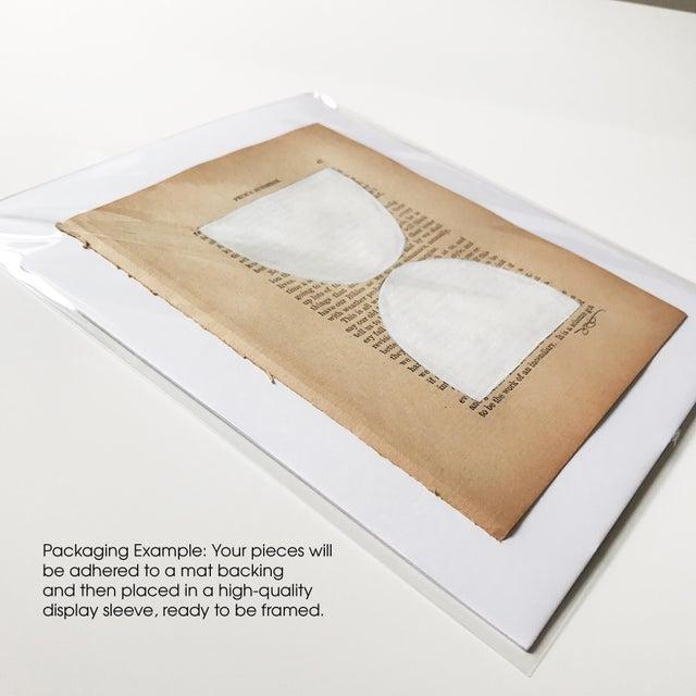 Abstract Josh Young Design House - 6 Piece Blanc Géométrique Collection For Sale - Image 3 of 5