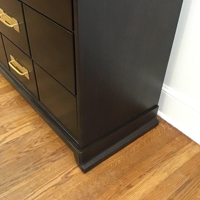 1950's Mid Century Tommi Parzinger for Charak Ebonized Chest of Drawers For Sale - Image 10 of 13