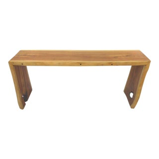 Guarapa Wood Console Table by Brazilian Contemporary Artist Valeria Totti