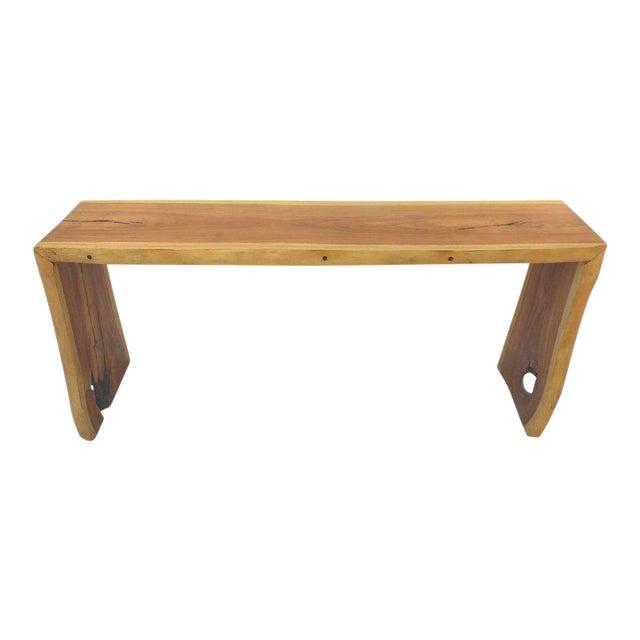 Guarapa Wood Console Table by Brazilian Contemporary Artist Valeria Totti For Sale