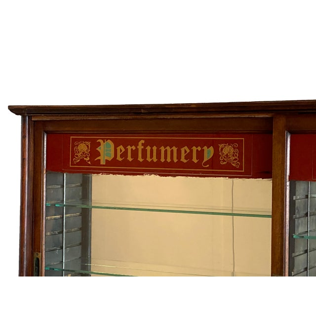 Early 20th Century Store Perfume Display Cabinet For Sale - Image 4 of 8