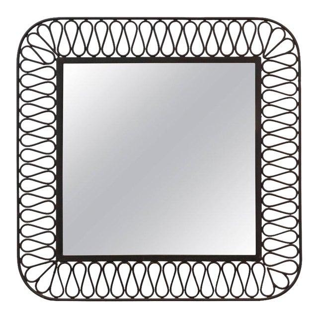 Decorative Black Iron Mirror For Sale