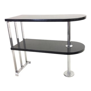 Alfons Bach Streamlined Moderne Two Tiered Side Table For Sale