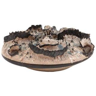 1970s Mid-Century Modern Joseph Broudo Ceramic Crater Vessel For Sale