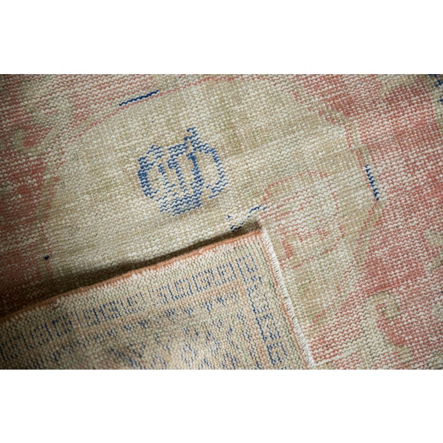 """Old New House Vintage Distressed Oushak Square Rug - 2'10"""" X 4' For Sale - Image 4 of 9"""