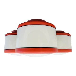 Vintage Mid Century Glass Light Fixture Shades For Sale