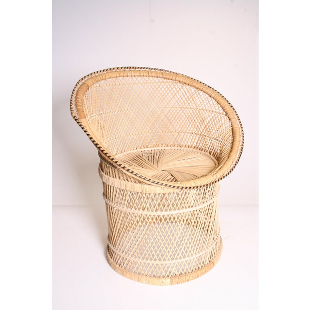 Vintage Boho Chic Wicker Pod Chair - Image 2 of 11