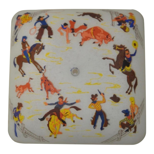 1940s Cowboy Ceiling Light Fixture - Image 1 of 5