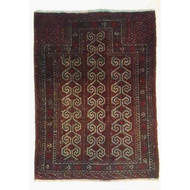 Green Dark Wool Turkish Rug - 2′8″ × 3′8″ For Sale - Image 8 of 8
