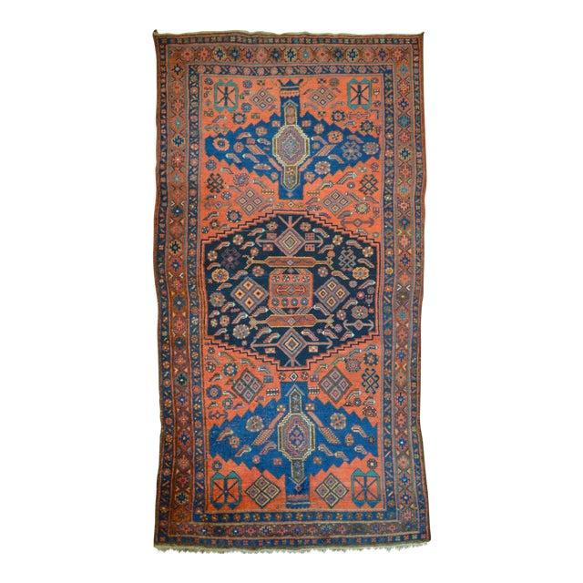 "Antique Persian Bidjar Long Rug - 4'5"" x 8'3"" - Image 1 of 9"