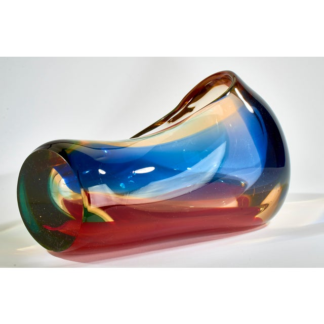 1960s Vintage Multi-Colored Murano Glass Bowl For Sale - Image 5 of 13