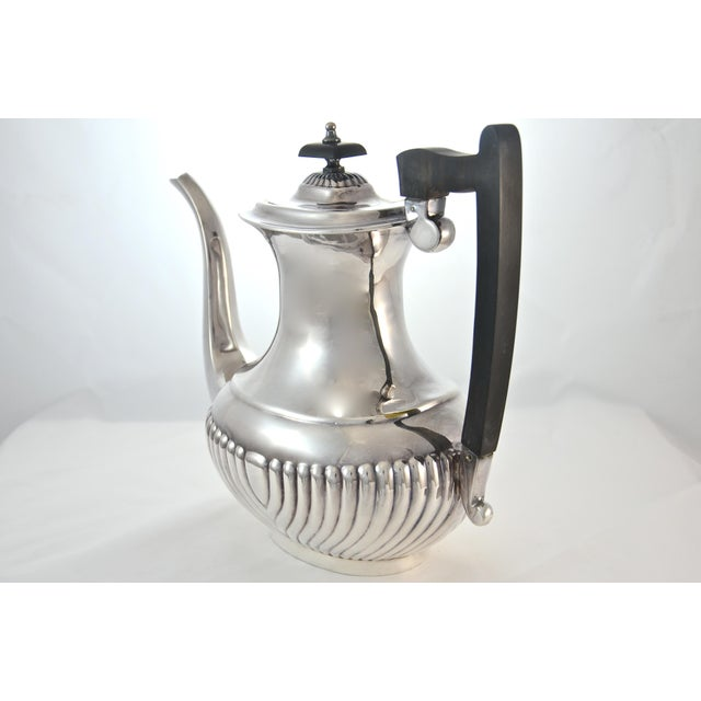English Traditional English Sheffield Silver Plate Coffee & Tea Set- 4 Pieces For Sale - Image 3 of 11