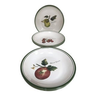 """Williams-Sonoma """"Heirloom Tomatoes """" Pasta Serving Bowls - - Set of 6 For Sale"""