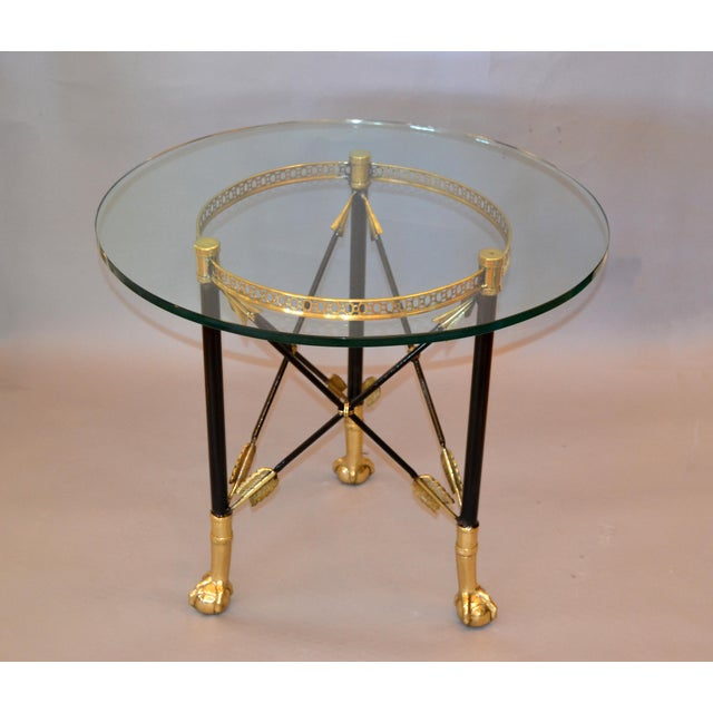 Round Bronze Glass Coffee Table Ball and Claw Feet For Sale - Image 12 of 13