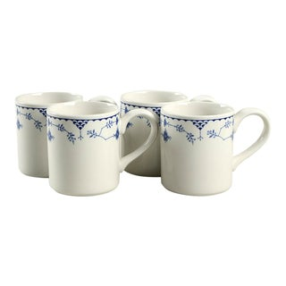 Johnson Brothers Denmark Blue Mug - Set of 4 For Sale