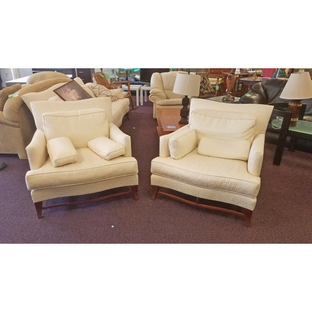 Classic Donghia Victoire Club Chairs - a Pair For Sale - Image 11 of 11