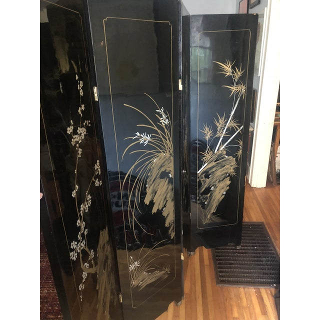 Mid 20th Century Vintage Oriental Room Divider For Sale - Image 5 of 11