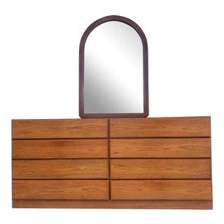 Vintage Modern Teak Bedroom Dresser by Scova For Sale