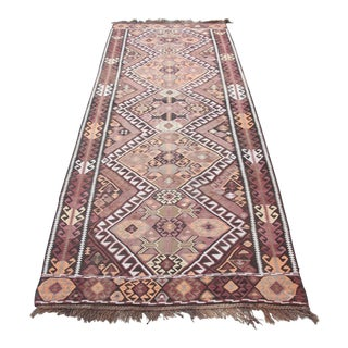 Decorative Turkish Runner Kilim Rug - 13' x 4' 7''