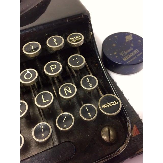 Americana Antique Remington Spanish Typewriter For Sale - Image 3 of 10