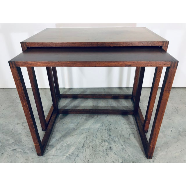Karl-Erik Ekselius Nesting Tables for j.o. Carlsson - 2 Pieces For Sale - Image 10 of 13