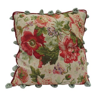 English Traditional Floral Down Pillow For Sale