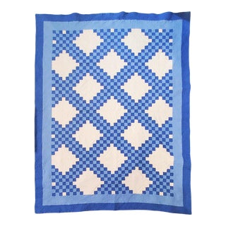 Ohio Amish Triple Irish Chain Quilt