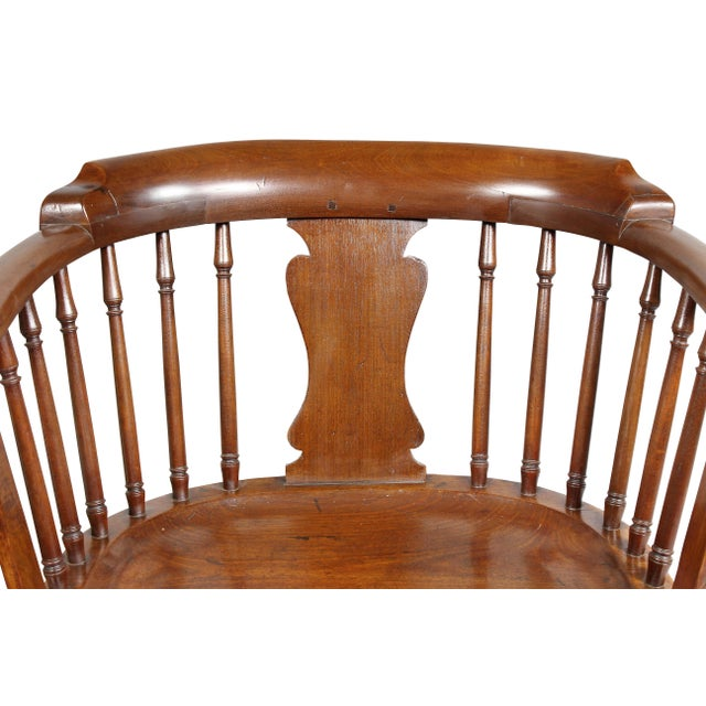 George III Mahogany Captains Armchair For Sale - Image 4 of 10